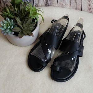 EUC Franco Sarto Toe Strap Sandals